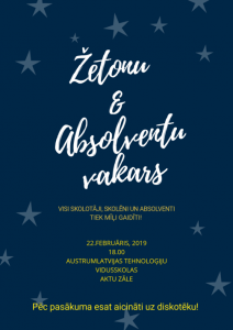 Žetonu un absolventu vakars 22.02.2019