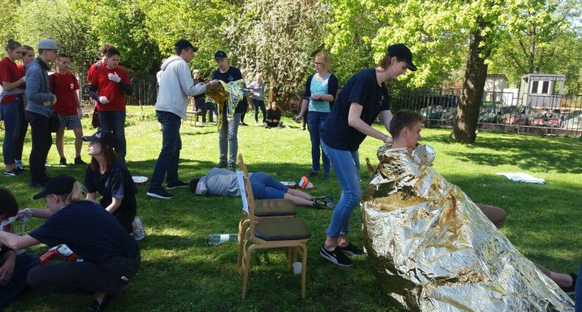 ATV skolēnu komanda piedalās Pirmās palīdzības sacensībās