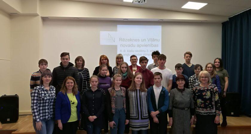ATV rīko 3. atklāto angļu valodas olimpiādi Rēzeknes un Viļānu novadu skolām
