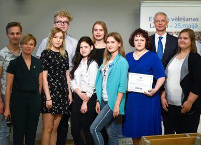 ATV pārstāvji – Eiropas Parlamenta Vēstnieku skolu 2018./2019. mācību gada izlaidumā